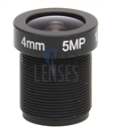4.0mm, F1.8, 5MP M12 Mount CCTV Lens