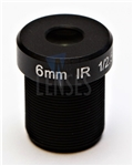6.0mm, F2.0, 5MP M12 Mount CCTV Lens