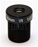 8.0mm, F2.0, 5MP M12 Mount CCTV Lens