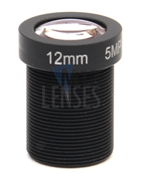 12.0mm, F1.8, 5MP M12 Mount CCTV Lens