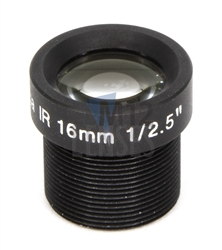 16.0mm, F1.6 3MP Mega Pixel CCTV Board Lens
