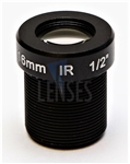 16.0mm, F2.0, 5MP M12 Mount CCTV Lens